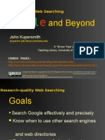 Google and Beyond (UC Berkeley)