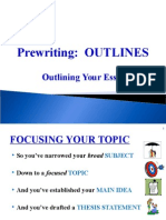 101 Outlining Essays