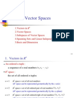 Lecture4, Vector Space