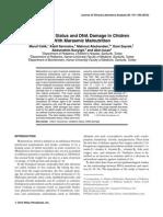Oxidative Status and DNA Damage in Chidren