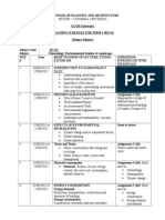 Teaching Schedule Climatology