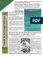 Comité de Energía Informa No. 54 Febrero 05-10 Ordenan disolver la UNTYPP
