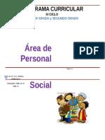 Personal Social III Ciclo