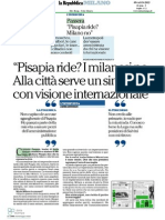 Pisapia ride? I milanesi no.