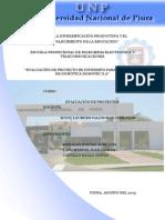 Evaluacion de Proyecto DOMOTICA 2015-1