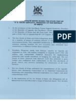 Final Communique on State Visit - Uganda