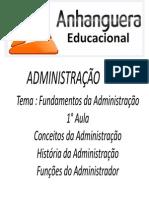 Administração - Aulas 1 -4