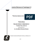 Terminos Basicos de La Tanatologia