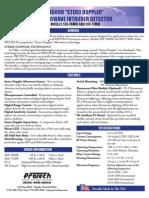 Protection Technologies SDI-76MW Data Sheet