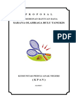 Proposal Sarana Bulu Tangkis Badminton