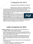 Indian Companies Act 2013 Important Points