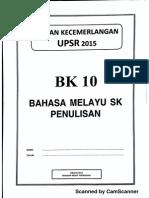 Ujian Percubaan UPSR 2015 - Terengganu - BM Penulisan - OTI 3 - BK10