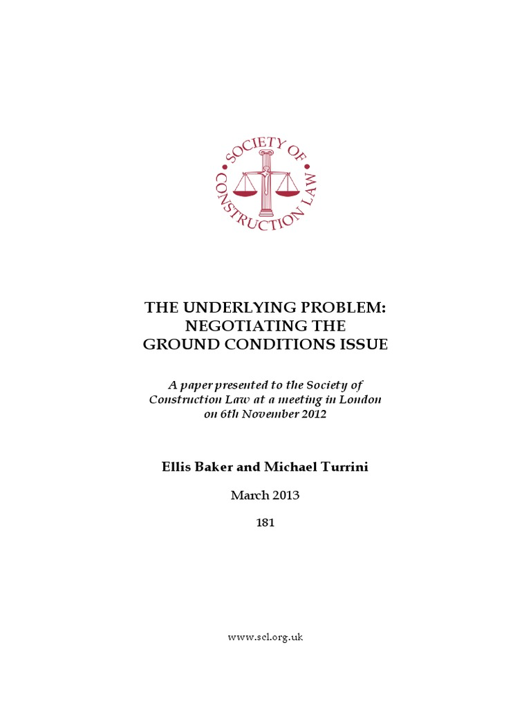 Scl the underlying problem ground conditions common law private law fandeluxe Image collections