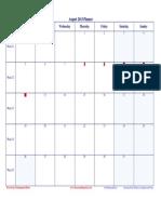 2013 08 August Planner