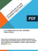 La Planeación de Una Campaña Publicitaria