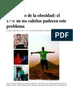 El Infierno de La Obesidad. Noticia El País Cali Sept-22-2013