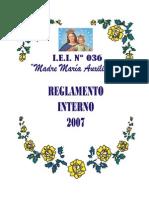 Reglamento Interno - Ri 2007