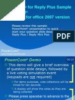 PowerCom for Plus Office2007 Sample English