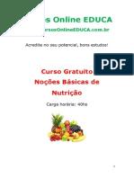Noções básicas de nutrição