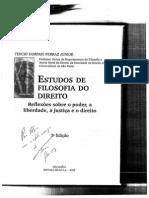 Estudos de filosofia do direito - Tárcio Sampaio