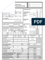 Subsea BOP Stack Operations API - Vertical Well Kill Sheet