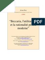 Beccaria_utilitarisme_et La Rationalité Pénale Moderne_Pires