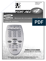 Controle One for All Manual 4 Em 1