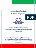 Course Specification for Mechanical Engineering