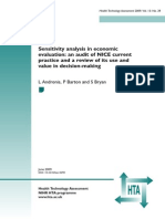 Sensitivity Analysis in Economic Evaluation an Udit of Nice Currint Practice l Andronis p Barton s Bryan