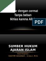 Dik12 Sumber Hukum Ajaran Islam