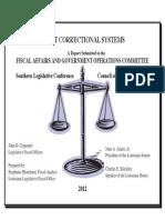 2013 Corrections Comparative Data Report