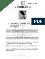 Modulo Curriculo Como Realidad Educativa