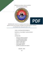 DETERMINAR CÓMO FUE LA EVOLUCIÓN DEL TURISMO Y CUÁL FUE LA INFLUENCIA DE ESTE EN LAS PRINCIPALES ACTIVIDADES COMERCIALES (HOSTELERÍA Y ARTESANÍA) EN EL VALLE DEL COLCA. EN EL PERIODO 2008 – 2012.