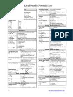 Phy Formula List