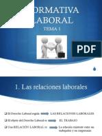 TEMA 1 La Normativa Laboral