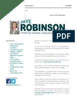 Councillor Robinson's Summer 2015 Update