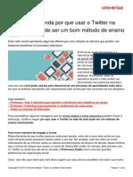 Professor Entenda Usar Twitter Sala Aula Pode Bom Metodo Ensino