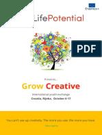 'Grow Creative' Infoletter