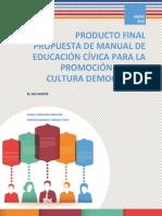 Manual de Formación Cívica para una Cultura Democrática en El Salvador