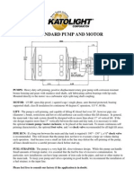 Standard Pump and Motor Spec