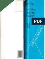 Eugen Fink - Actes Du Colloque de Cerisy-la-Salle de 1994 (1997)