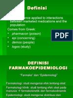 DEFINISI FARMAKOEPIDEMIOLOGI