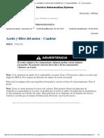 320D2 & 320D2 L Excavators TMF00001-UP (MACHINE) POWERED by C7 - Cambio de Aceite y Filtro de Motor