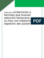 Documento Atención Temprana a Familias