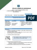 Sesion de Aprendizaje N° 03 Area Matematica  1°  Ccesa1156JSBL