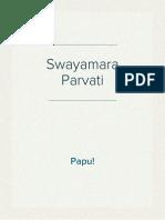 Swayamvara Parvati