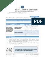 Sesion de Aprendizaje N° 04 Area Matematica  1°  Ccesa1156JSBL