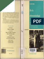 Eugen Fink - De La Phénoménologie