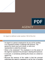 Agency under Indian Contract Act, 1872
