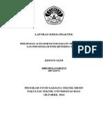 Cover Laporan Kerja Praktek UR